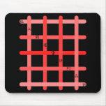 早九字(赤色) マウスパッド
