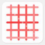 早九字(赤色) 正方形シール・ステッカー