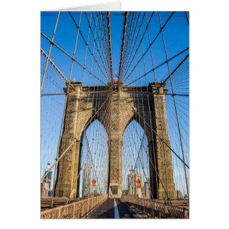 早朝のブルックリン橋 カード
