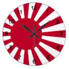 旭日旗の壁掛け時計,No.02 ラージ壁時計