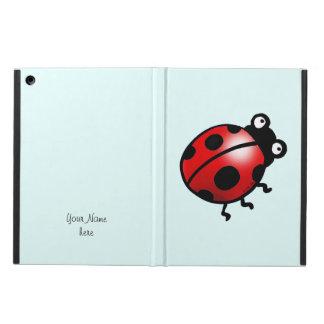 昆虫のてんとう虫の漫画 iPad AIRケース
