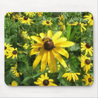 昆虫のマウスパッドの黄色いConeflower マウスパッド