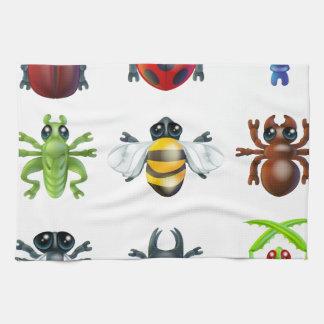 昆虫の虫アイコン キッチンタオル