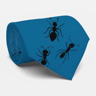 昆虫学者の害虫駆除の黒の軍隊アリ オリジナルネクタイ