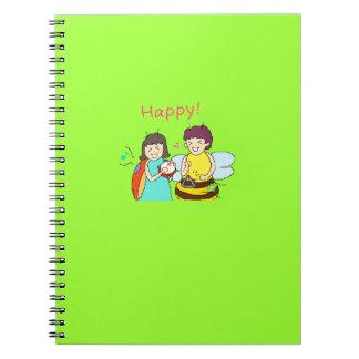 昆虫4人の姉妹Notebook_1-14 スプリングノート