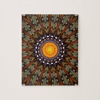 (昆虫)オオカバマダラ、モナークおよびMarigolgの万華鏡のように千変万化するパターン ジグソーパズル