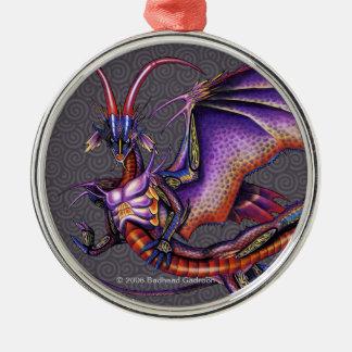 (昆虫)オオカバマダラ、モナークのドラゴンのオーナメントの円形の報酬 メタルオーナメント