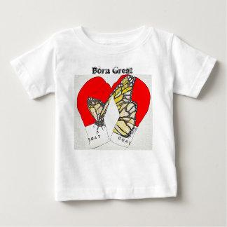 (昆虫)オオカバマダラ、モナークのボクシンググラブとの生まれる素晴らしい ベビーTシャツ