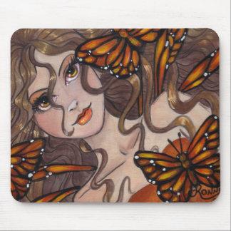 (昆虫)オオカバマダラ、モナークの妖精のマウスパッド マウスパッド