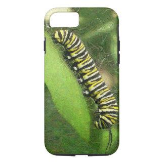 (昆虫)オオカバマダラ、モナークの幼虫-日没のリラックス iPhone 8/7ケース