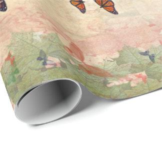 (昆虫)オオカバマダラ、モナークの庭の包装紙 ラッピングペーパー