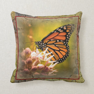 (昆虫)オオカバマダラ、モナークの枕 クッション