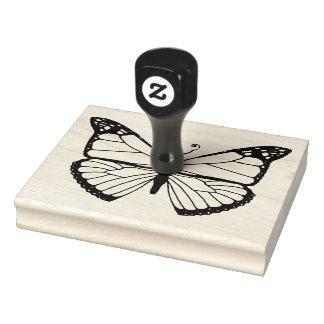 (昆虫)オオカバマダラ、モナーク -- (大きい) ラバースタンプ