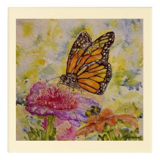 (昆虫)オオカバマダラ、モナーク《昆虫》マルハナバチの水彩画12x12のプリント アクリルウォールアート