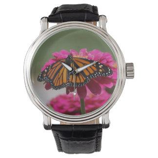 (昆虫)オオカバマダラ、モナーク 腕時計