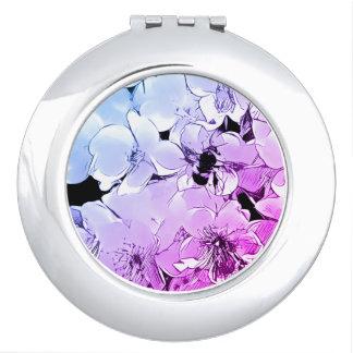 《昆虫》マルハナバチおよび花のデザインの密集した鏡