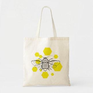 《昆虫》マルハナバチのはちの巣のデザイン トートバッグ