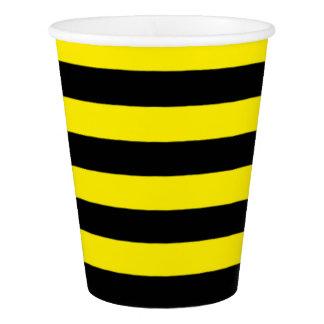 《昆虫》マルハナバチのストライプなコップ、9つのozの紙コップ 紙コップ