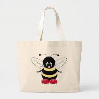 《昆虫》マルハナバチのトートバック ラージトートバッグ