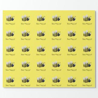 《昆虫》マルハナバチの包装紙 ラッピングペーパー
