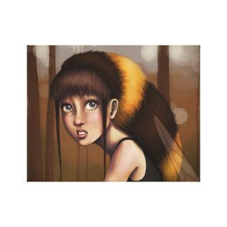 《昆虫》マルハナバチの女の子 キャンバスプリント