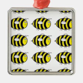 《昆虫》マルハナバチ シルバーカラー正方形オーナメント