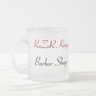 昇進かみそりのKingzの理髪店 フロストグラスマグカップ