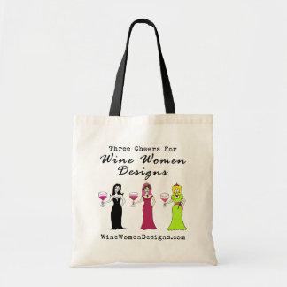 昇進ワインの女性のデザインのための3つの応援 トートバッグ
