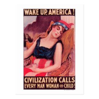 昇進AmericaWar IIの米国 ポストカード