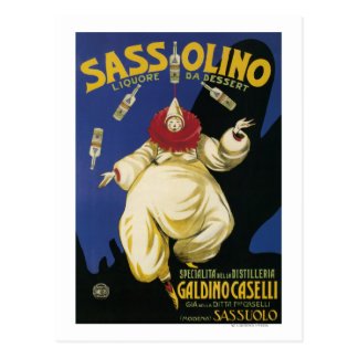 昇進Sassolino Liquore daのデザート ポストカード