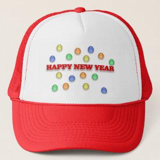 明けましておめでとうおよび紙吹雪の帽子 キャップ