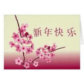 明けましておめでとうの新年快乐 カード