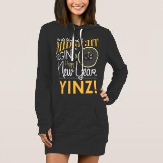 明けましておめでとうのYinzの女性のフード付きスウェットシャツの服 ドレス