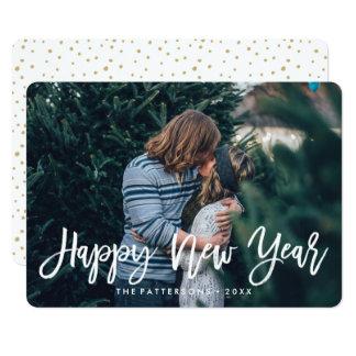 明けましておめでとうは|の休日の写真カードの上にありました カード