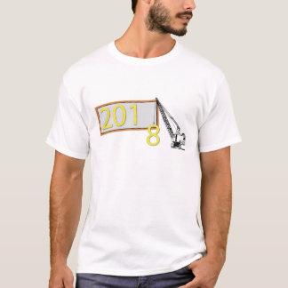 明けましておめでとう2018のイブの人のTシャツ Tシャツ