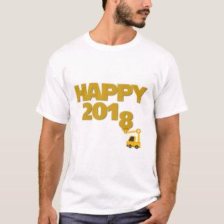 明けましておめでとう2018の人のTシャツ Tシャツ