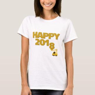明けましておめでとう2018の女性のTシャツ Tシャツ
