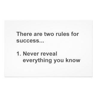 明らかにされる成功のための2つの規則 便箋