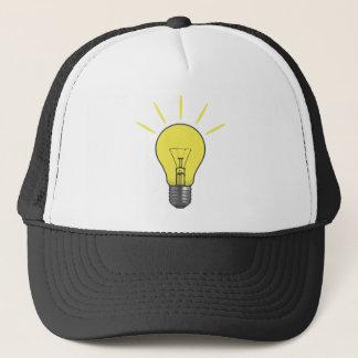 明るいアイディアの電球 キャップ