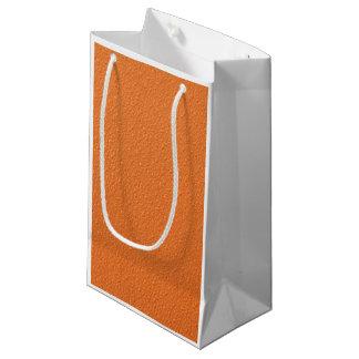 明るいオレンジネオン粋な色 スモールペーパーバッグ