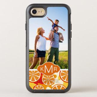 明るいオレンジ柑橘類パターン|はあなたの写真を加えます オッターボックスシンメトリーiPhone 8/7 ケース