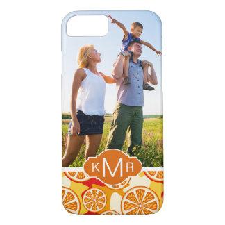 明るいオレンジ柑橘類パターン|はあなたの写真を加えます iPhone 8/7ケース