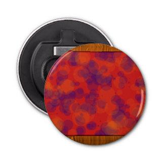 明るいオレンジ紫色の円形のオープナ 栓抜き