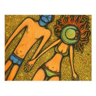 明るいカップル ポストカード