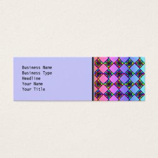 明るいカラフルのステンドグラスのスタイルパターン スキニー名刺