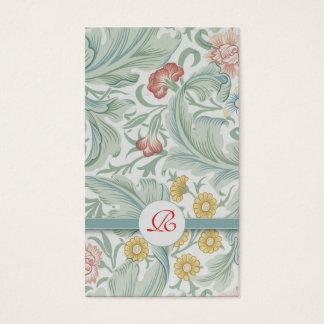 明るいカラフルの花のヴィンテージの名刺 名刺