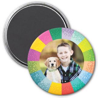 明るいカラーホイールの円形の写真の磁石 マグネット