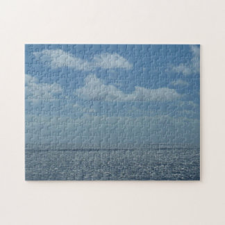 明るいカリブ海の青の海 ジグソーパズル