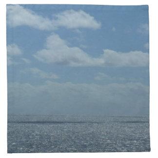 明るいカリブ海の青の海 ナプキンクロス
