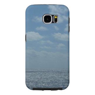 明るいカリブ海の青の海 SAMSUNG GALAXY S6 ケース